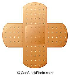 An adhesive bandage - Illustration of an adhesive bandage on...