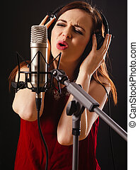 Recording vocals in the studio
