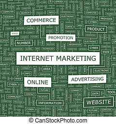 INTERNET MARKETING. Concept illustration. Graphic tag...