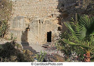 Outside the Tomb of Jesus In Jerusalem