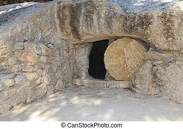 réplica, tumba, Jesús, Isr