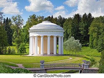 rússia, pavlovsk, Pavilhão, parque