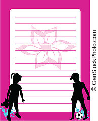 Silhouettes of children - Stationery