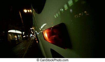 blinker at a bus - video footage of a blinker at a bus