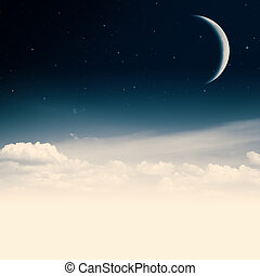 Beauty nigh. Abstract environmental backgrounds with copy space