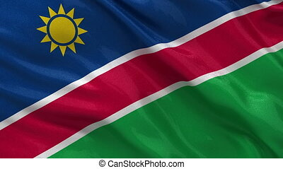 Flag of Namibia seamless loop - Flag of Namibia gently...