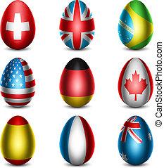 Easter - Vector illustration of Easter eggs.