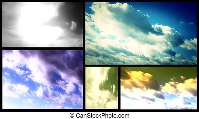 cloudscape multi screen  - cloudscape multiscreen timelapse