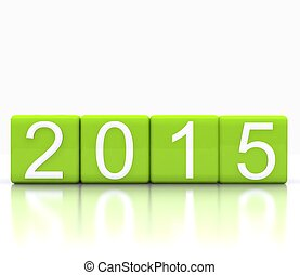 New year 2015 - 3D illustration - dice with new year 2015