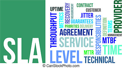 word cloud - sla - A word cloud of service level agreement...