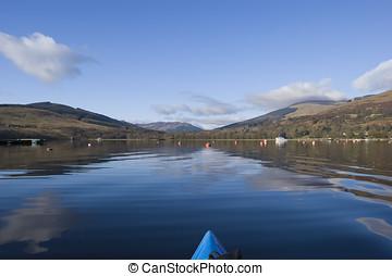 Kayaking on Loch Earn - View from kayak on Loch Earn...