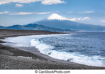 Fuji-San and Shizuoka Coast - Beautiful Mt Fuji seen from a...