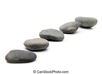 stone on a white background