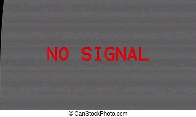 No TV signal. Television screen. - No TV signal. Television...
