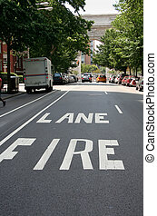 Greenwich fire lane - Fire laner at New York University area...