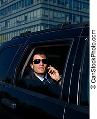 Outdoor Businessman - Portrait of business man outside the...