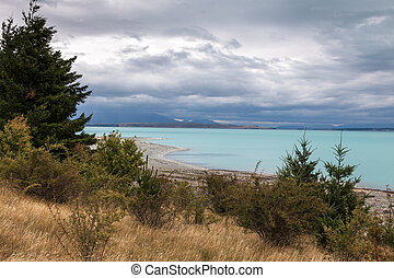 Deserted shoreline