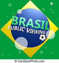 Brasil, mundo, taza, logotipo