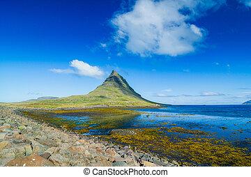 Icelandic Kirkjufell mountain - Western Icelandic Kirkjufell...