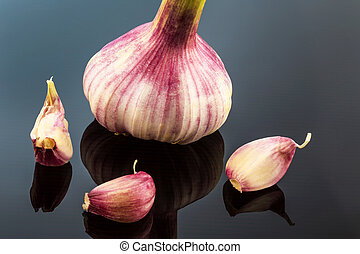 garlic - the inclusion of a garlic bulb in the studio....