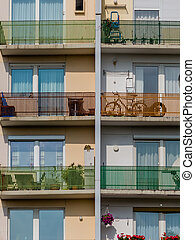balconies in a residential building
