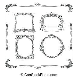 Vintage frame set doodle