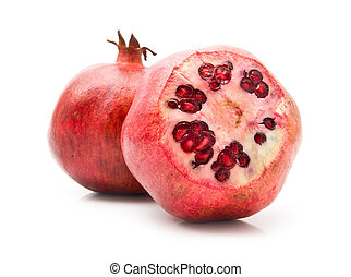 pomegranates on a white background