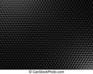 Black metal background with square elements