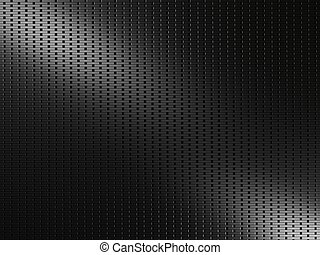 Black metal background with rectangular elements