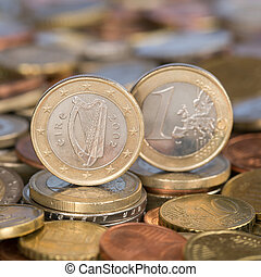 One Euro coin Ireland Eire - A one Euro coin from the...