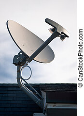 Satellite Antenna - A roof mounted satellite communications...
