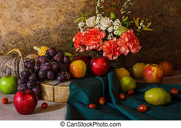 Still life with Fruits. - Still life with Fruits were placed...