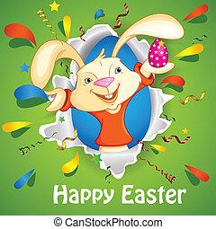 Bunny wishing Happy Easter