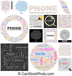 Phone Concept illustration - Phone Word cloud illustration...