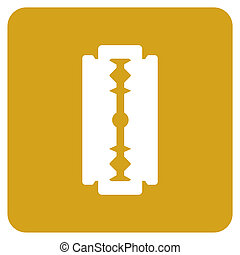 Objects collection: Razor Blade - Razor blade icon. Vector...