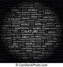 NATURE Word cloud illustration Tag cloud concept collage