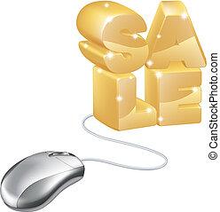 Mouse internet sale concept