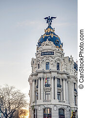 Metropolis building at Madrid, Spain