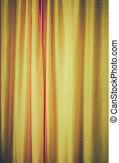 Vintage 70s Curtains - Retro VIntage Aged Old 70s Style...