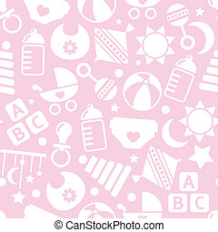 kids pink seamless pattern
