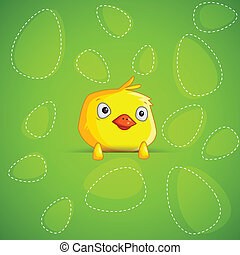 Easter Chick - easy to edit vector illustration of Easter...