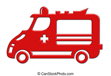 ambulance car icon