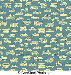 vector seamless car pattern