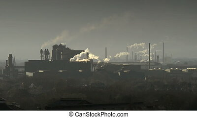 factory pollution coal scuttle - Pollution and global...