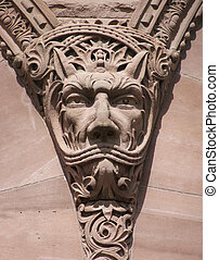 Gargoyle - A not so fierce looking gargolye on the front of...