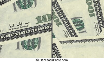 Money background split two ways - Money animated background...