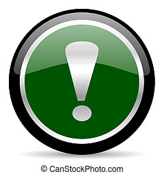 exclamation sign - green web button