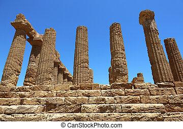 Temple of Juno Lacinia Agrigento - Temple of Juno Lacinia in...
