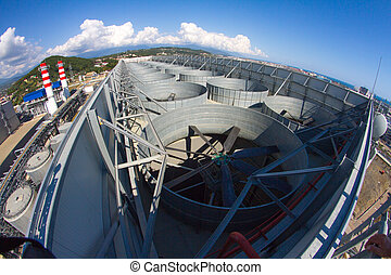 industrial ventilation system, roof of the plant -...