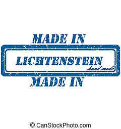 lichtenstein stamp - Rubber stamp made in lichtenstein hand...